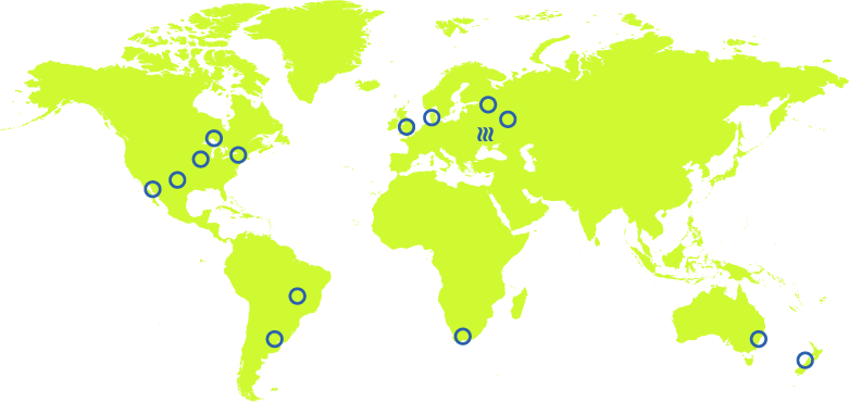 Gyrus Solutions clients Map